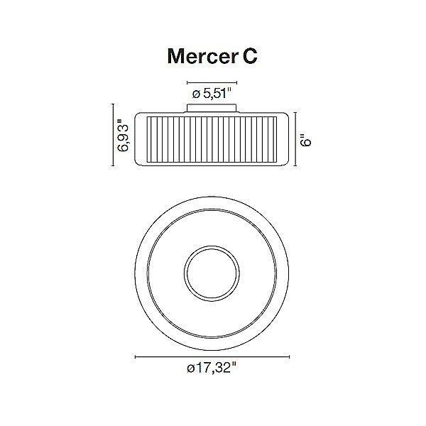 Mercer Ceiling Light - Diagram