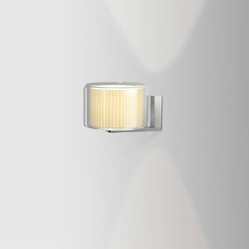 Mercer Wall Light - Pleated White Cotton Finish