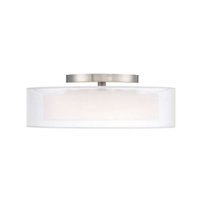 "Metropolis 18"" LED Semi Flush Mount - Brushed Nickel Finish"