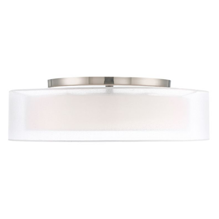 "Metropolis 24"" LED Semi Flush Mount - Brushed Nickel Finish"