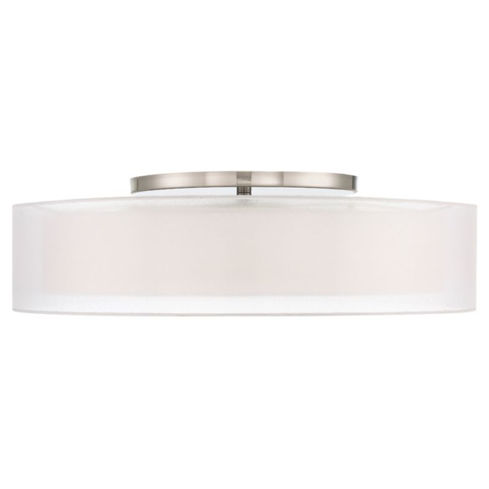 "Metropolis 30"" LED Semi Flush Mount - Brushed Nickel Finish"