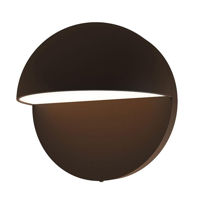 "Mezza Cupola 5"" LED Outdoor Wall Sconce - Textured Bronze Finish"