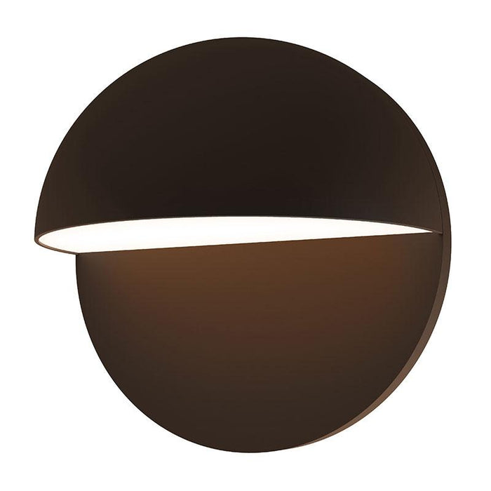 "Mezza Cupola 8"" LED Outdoor Wall Sconce - Textured Bronze Finish"