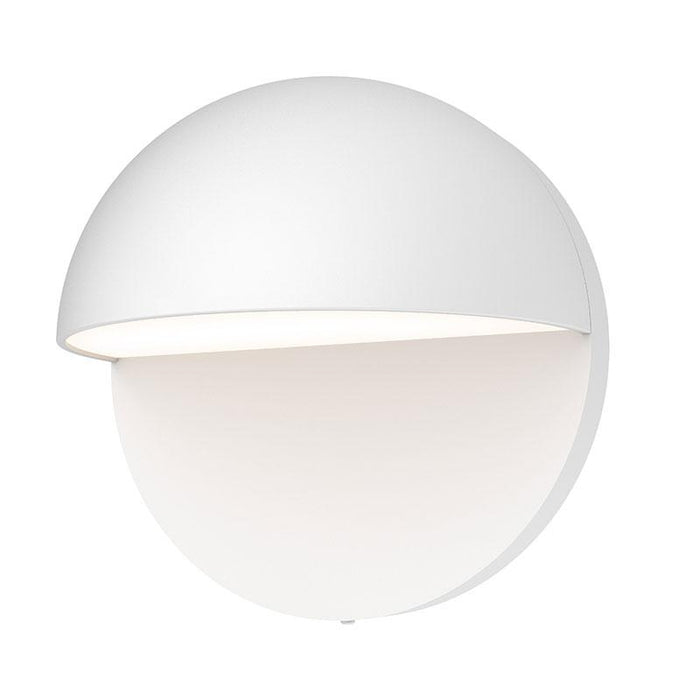 "Mezza Cupola 5"" LED Outdoor Wall Sconce - Textured White Finish"