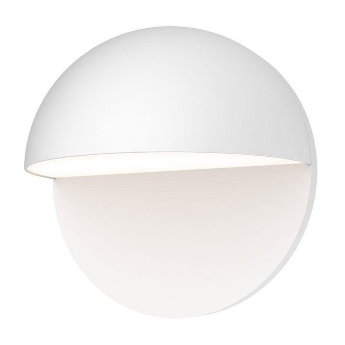 "Mezza Cupola 8"" LED Outdoor Wall Sconce - Textured White Finish"