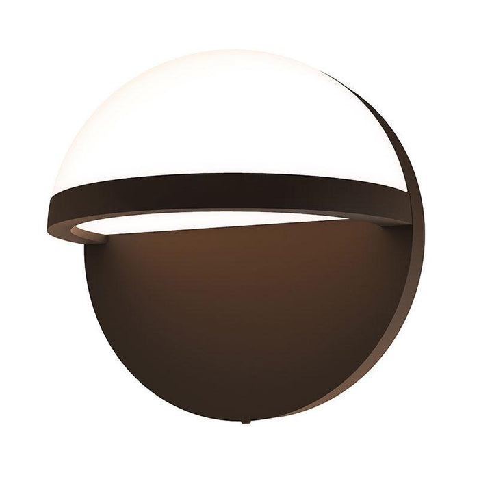 "Mezza Vetro 5"" LED Outdoor Wall Sconce - Textured Bronze Finish"