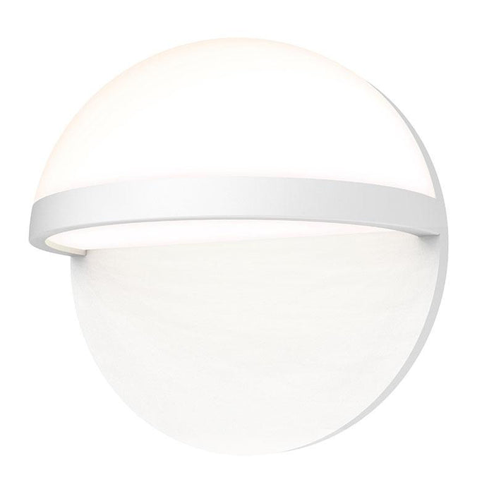 "Mezza Vetro 8"" LED Outdoor Wall Sconce - Textured White Finish"