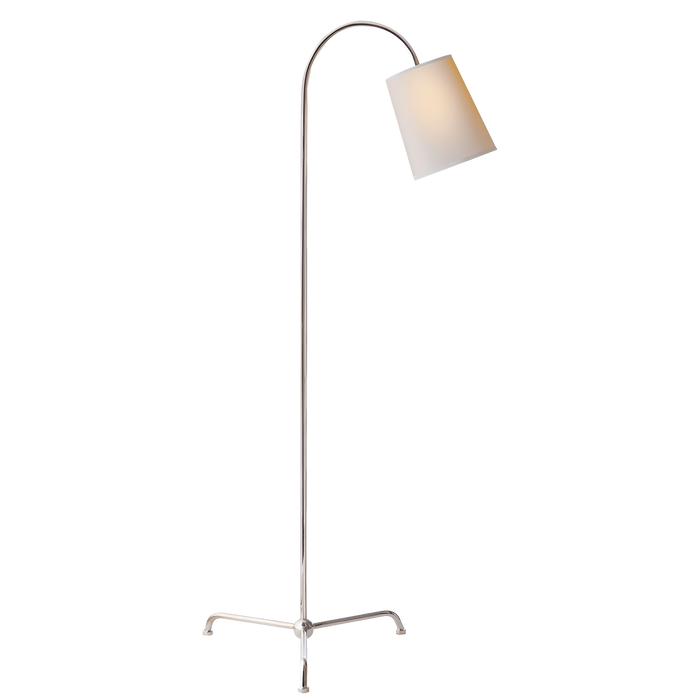 Mia Floor Lamp - Polished Nickel