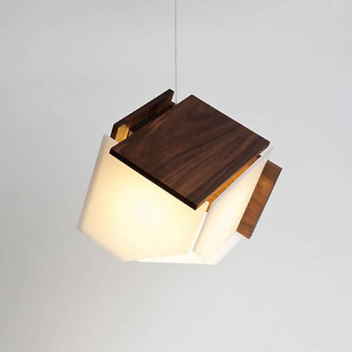 Mica LED Accent Pendant - Dark Satined Walnut Finish