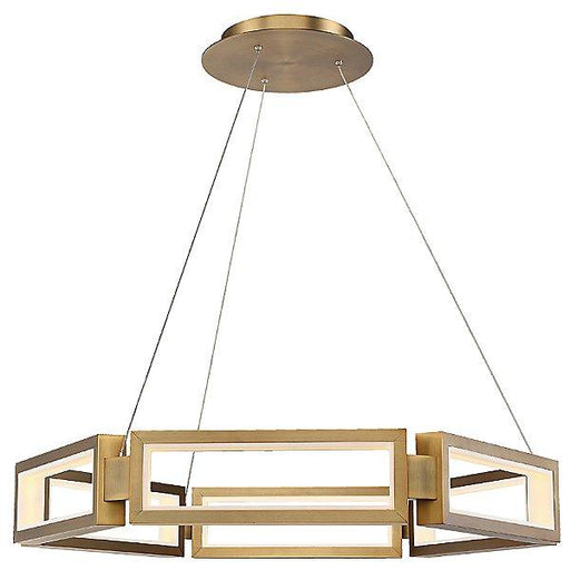 "Mies 35"" Pendant - Aged Brass Finish"