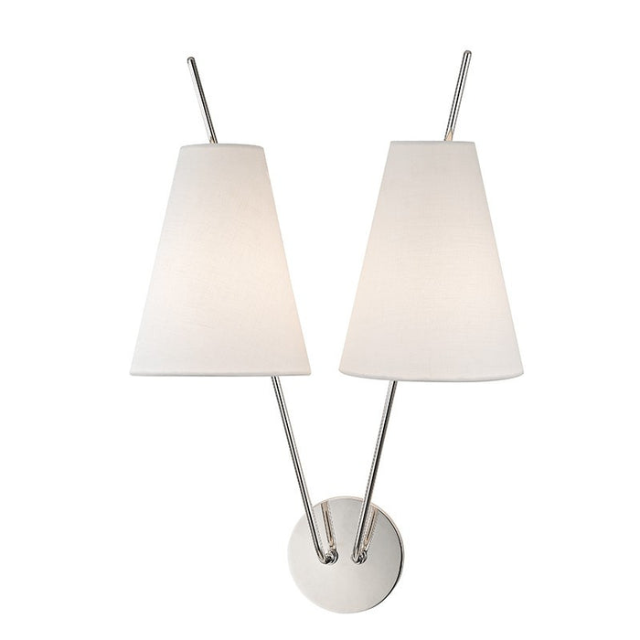 Milan 2-Light Wall Sconce - Polished Nickel
