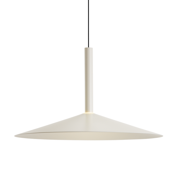 Milana Large Counterweight Pendant - Off White Finish