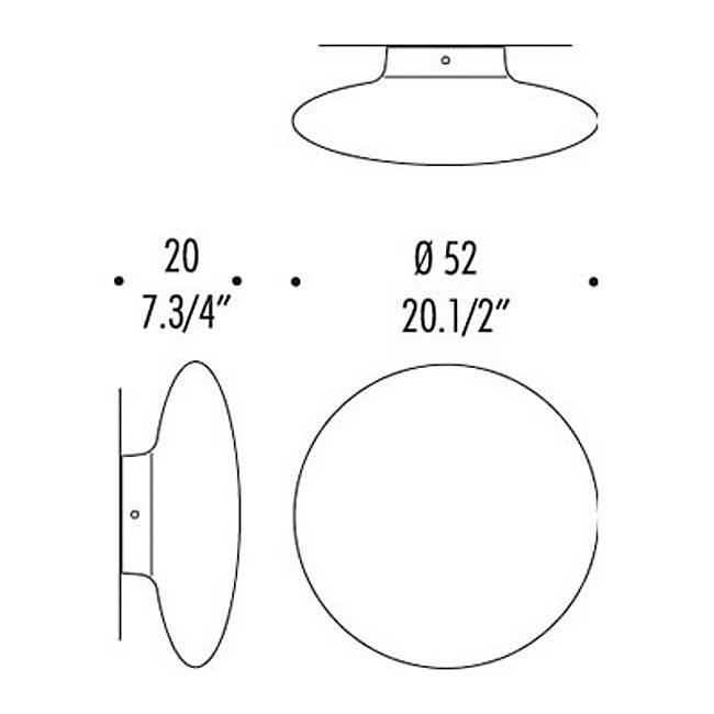 Mild Wall/Ceiling Light Diagram