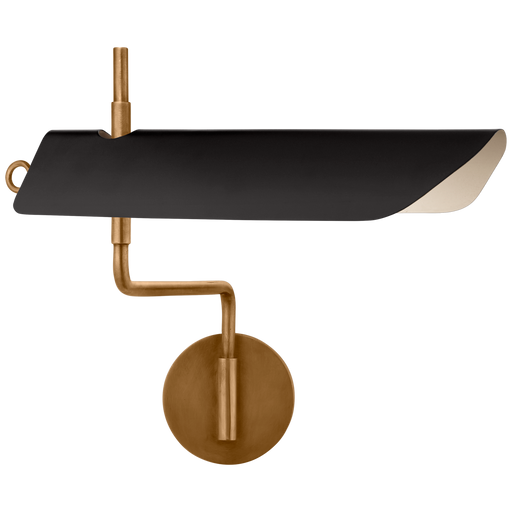 Miles Swing Arm Wall Light - Antique Burnished Brass/Black Finish