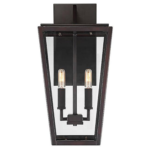 Milton 2-Light Outdoor Wall Sconce - English Bronze Finish