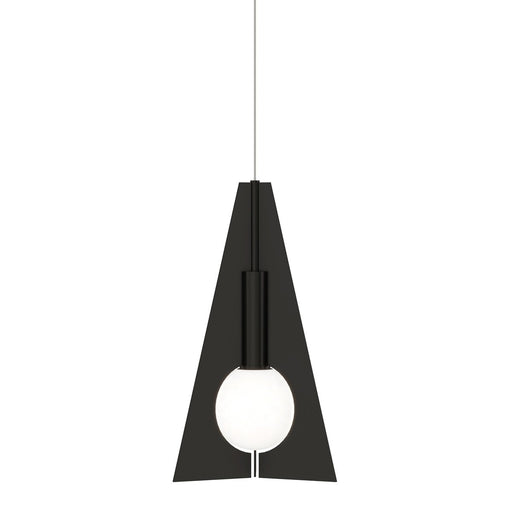 Mini Orbel Pyramid Pendant - Nightshade Black Finish