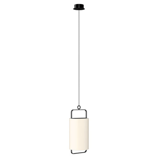 "Minimalism 9.8"" LED Pendant - Matte Black/Cream White Finish"