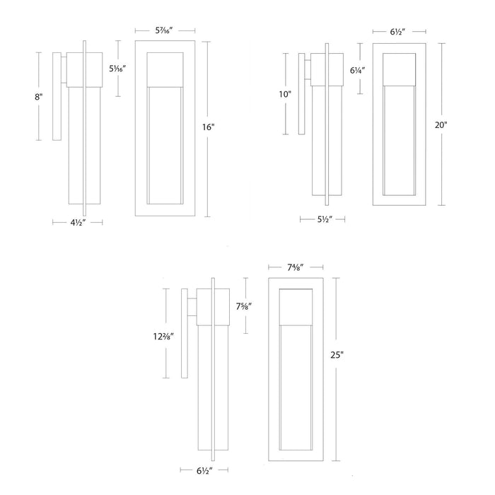 Mist LED Outdoor Wall Sconce - Diagram