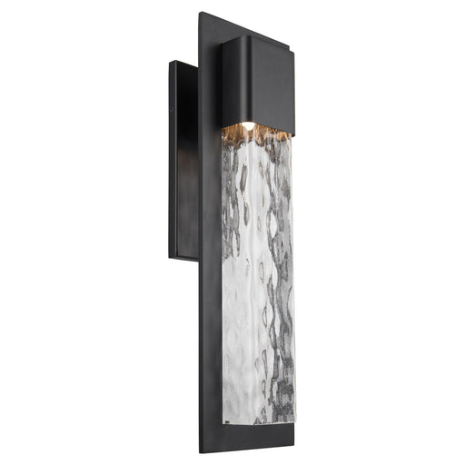 Mist Large LED Outdoor Wall Sconce - Black Finish