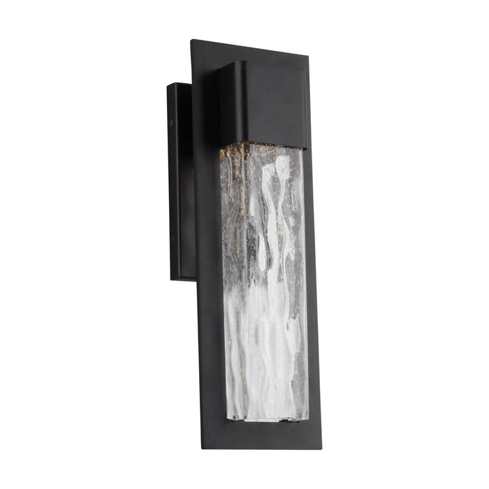 Mist Small LED Outdoor Wall Sconce - Black Finish