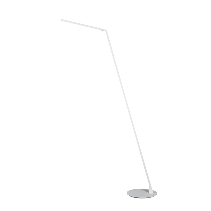Miter LED Floor Lamp - White Finish