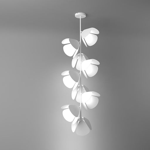 Mod 9-Light LED Pendant - White Finish Metal White Shade