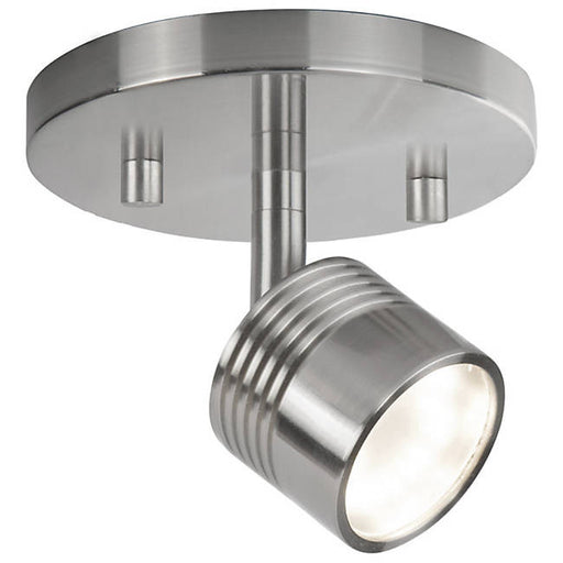 Modern LED Single Fixed Track Fixture - Brushed Nickel/Single Light
