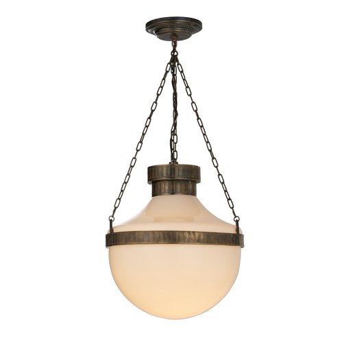 Modern Schoolhouse Pendant - Antique Brass