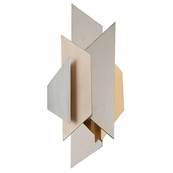 Modernist Wall Sconce - Silver/Gold Leaf Finish