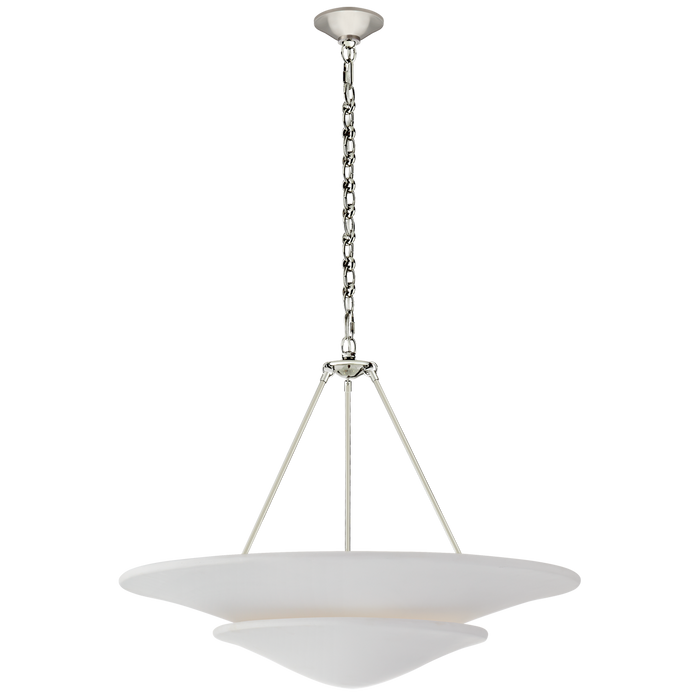 Mollino Large Tiered Chandelier - Polished Nickel Finish