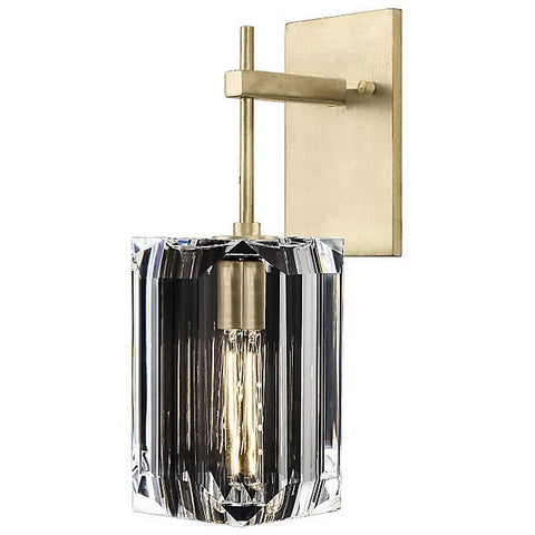 Monceau Stemmed Wall Sconce Soft Gold Leaf