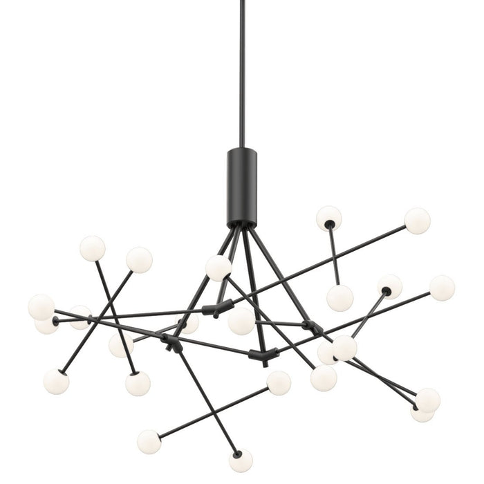 Moto Black LED Chandelier - Black Finish