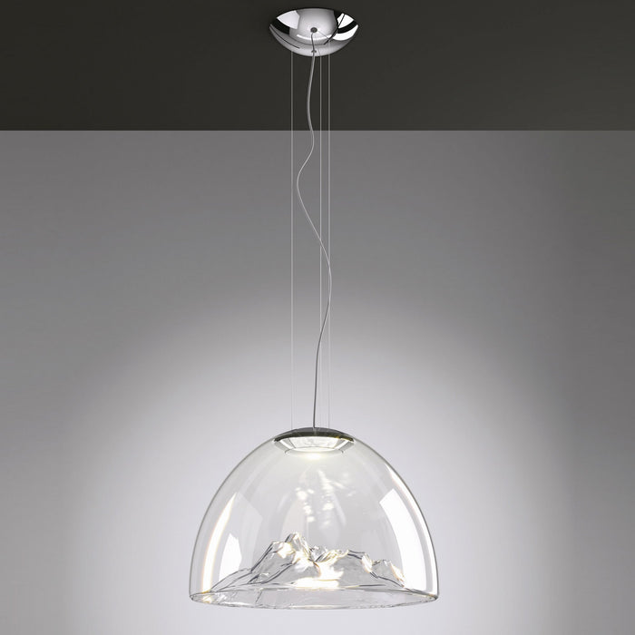 Mountain View Pendant Light - Crystal/Chrome Finish
