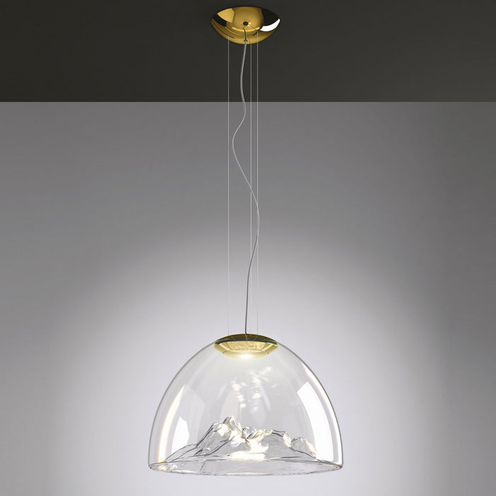 Mountain View Pendant Light - Crystal/Gold Finish
