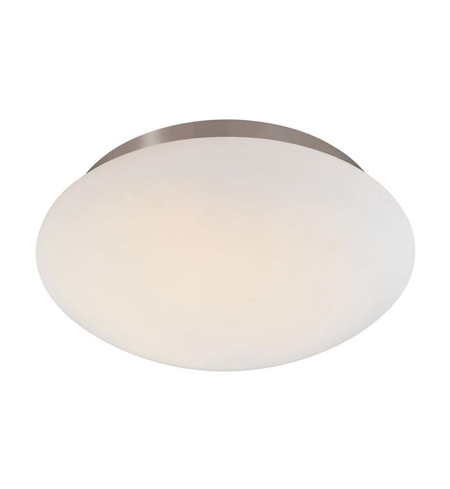 "Mushroom 12.5"" Flush Mount - Satin Nickel"