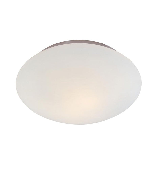 "Mushroom 15.5"" Flush Mount - Satin Nickel"