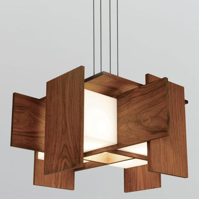 Muto LED Pendant - Oiled Walnut Finish