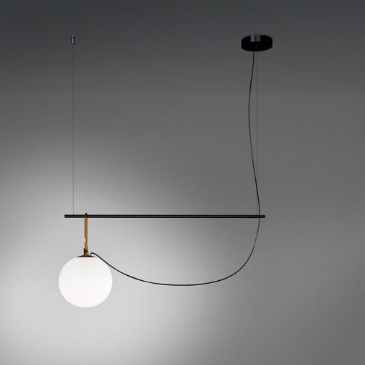 NH 32.3 Linear Suspension Large Globe - Brushed Brass/Black Finish