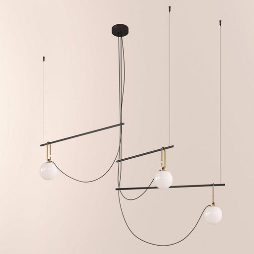 NH S3 Suspension Lamp - Brushed Brass/Black Finish