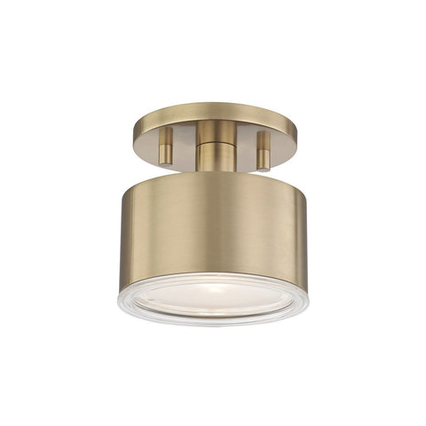 NORA SEMI FLUSH CEILING LIGHT Aged Brass