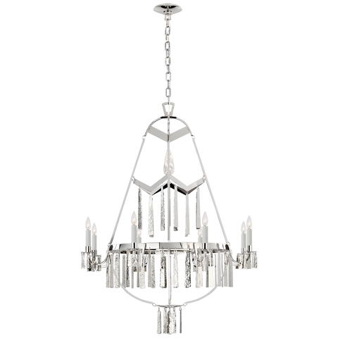 Natalie Large Chandelier Polished Nickel
