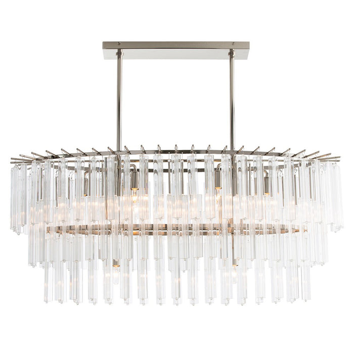 Nessa Chandelier - Polished Nickel