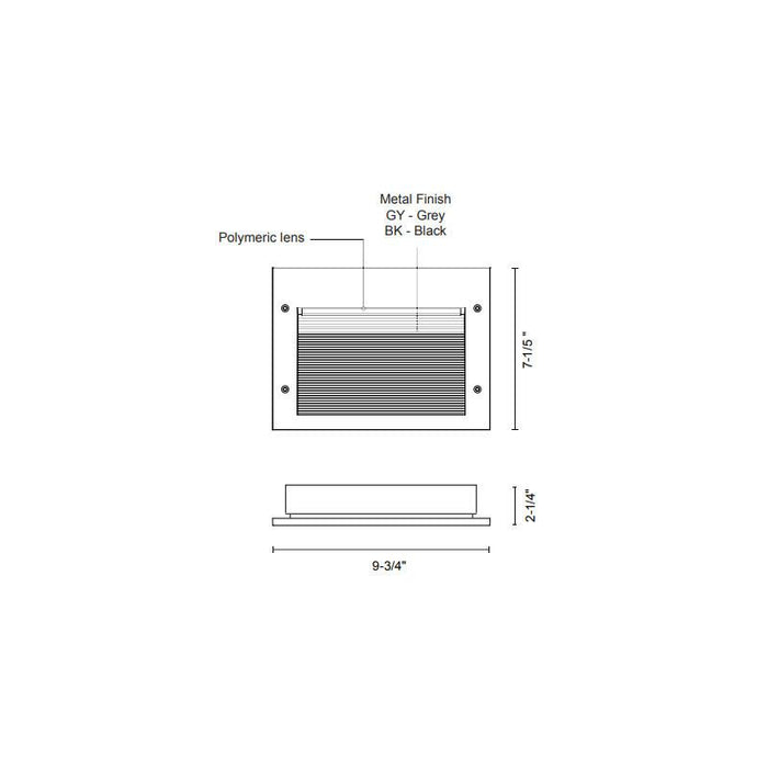Newport LED 7108 Step Light - Diagram