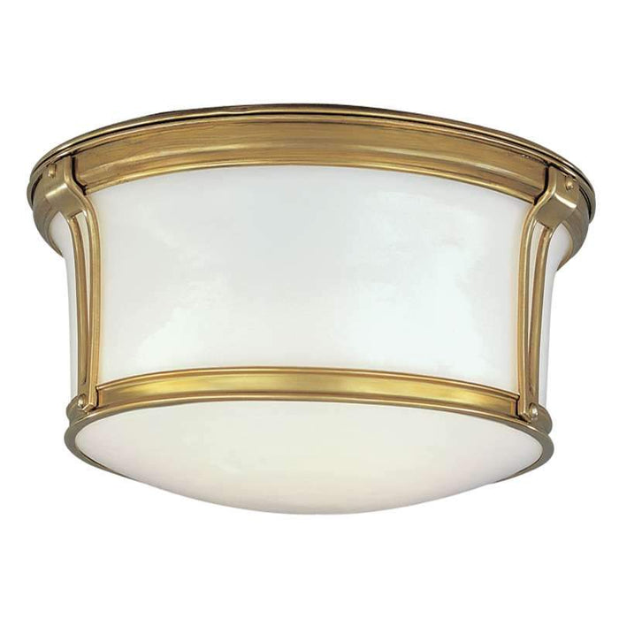 "Newport Ceiling Light 10"" Aged Brass"