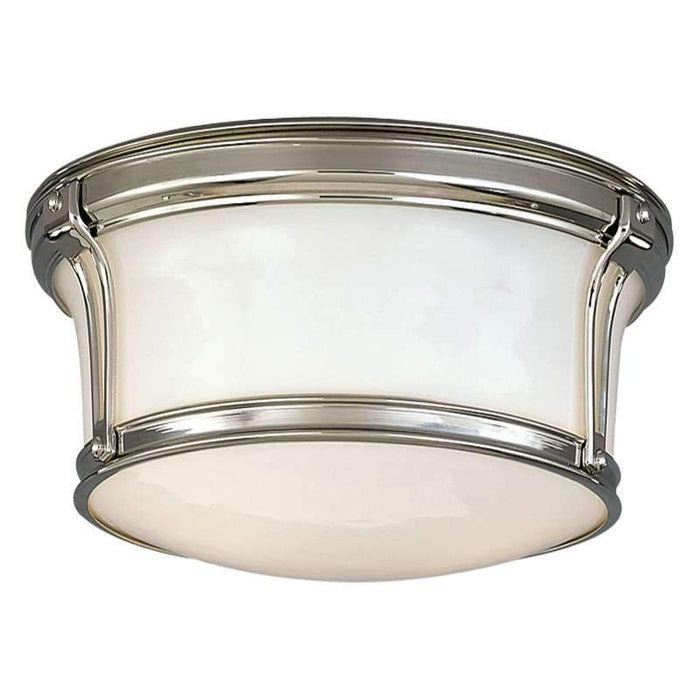 "Newport Ceiling Light 10"" Polished Nickel"