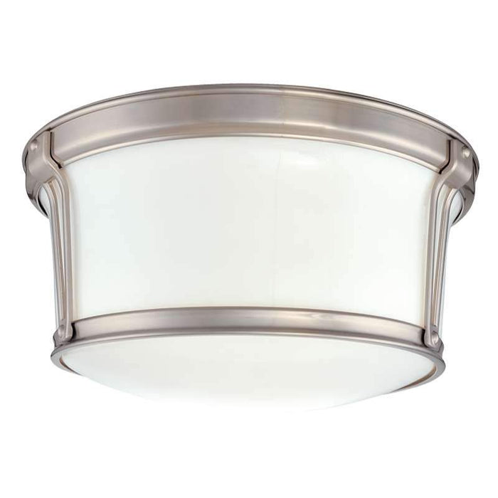 "Newport Ceiling Light 10"" Satin Nickel"