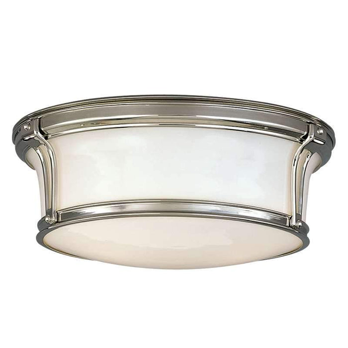 "Newport Ceiling Light 13"" Polished Nickel"