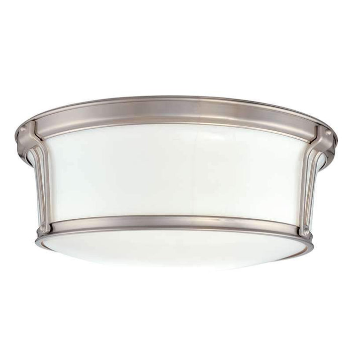 "Newport Ceiling Light 13"" Satin Nickel"
