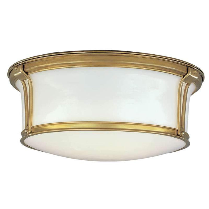 "Newport Ceiling Light 15"" Aged Brass"