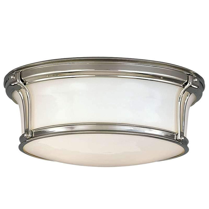 "Newport Ceiling Light 15"" Polished Nickel"